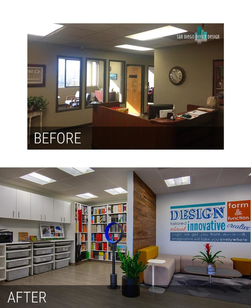 Before and After - San Diego Office Design