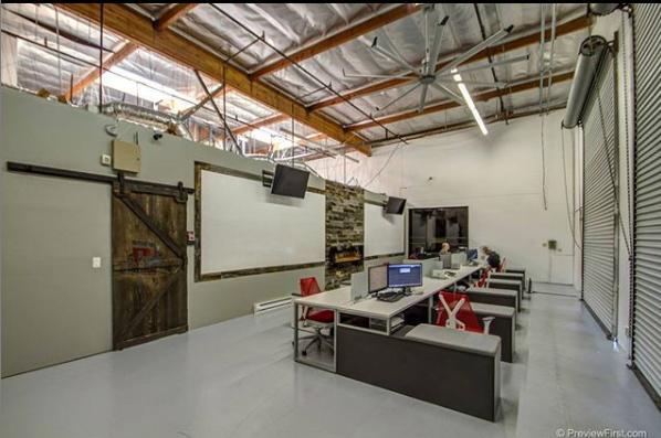 Warehouse office setting