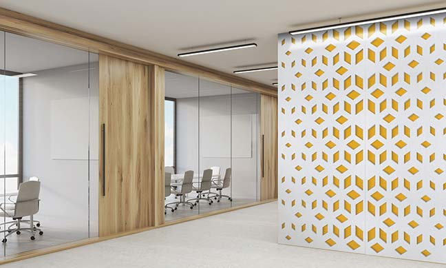 Acoustical Wall in an Office