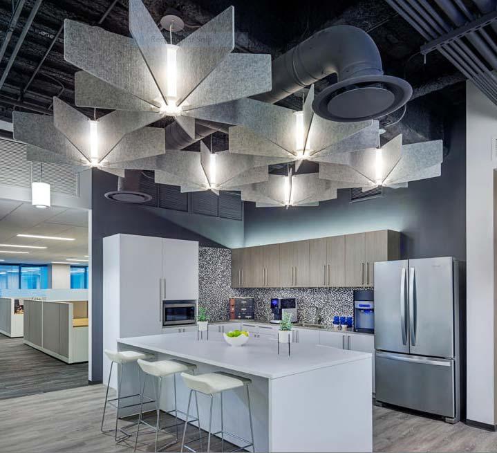 Sound deadening acoustical ceiling fan
