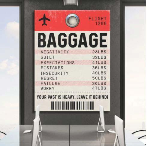 Baggage Tag Pop Art