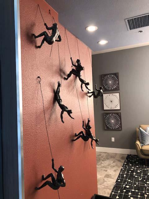 3D Wall Art - Climbing Men