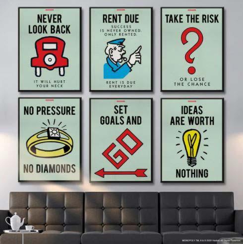 Pop Art - Monopoly Prints