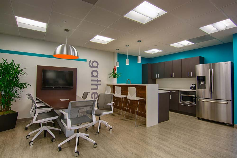 Small Office Kitchen next to Conference Table