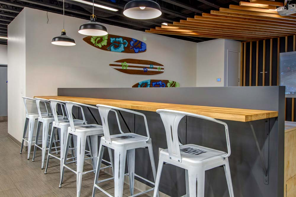 Bar Seating Area in a Car Dealership