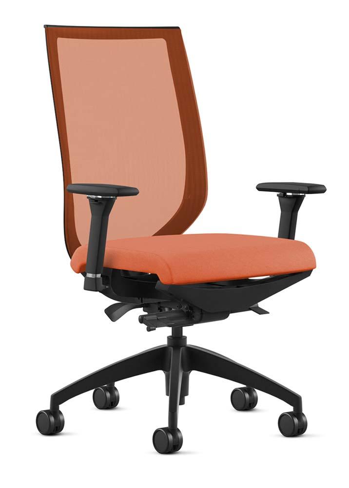 Aria Tangerine Office Chair