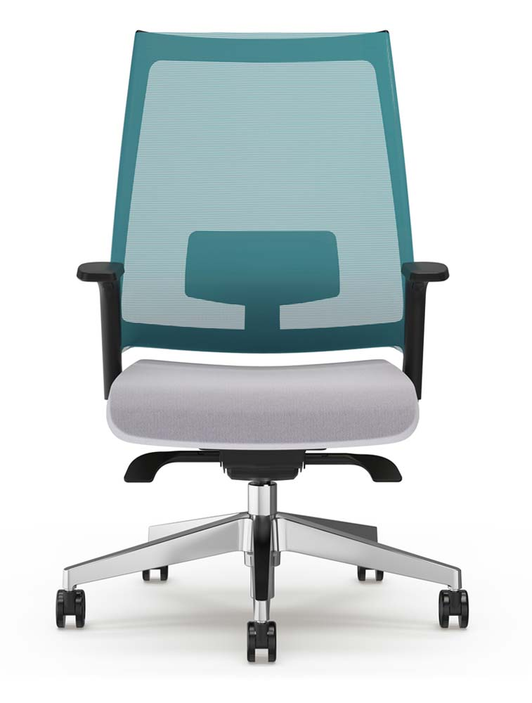 Luna Office Chair with Polished Base