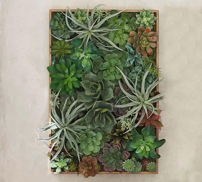 Faux Succulent Wall Art