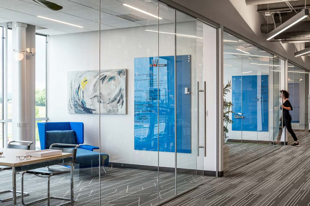 BVA Office Floating Glassboard