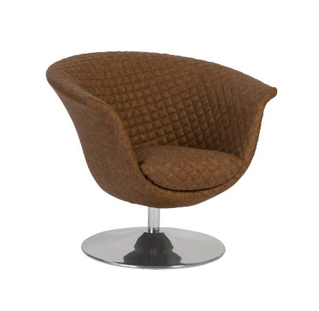 Quilted Trumpet Swivel Chair- Phillips Collection
