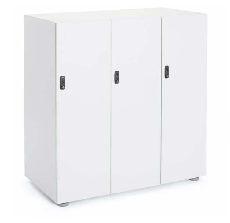 Poppin 3-Door Coat Locker